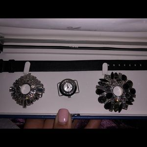 Swarovski interchangeable crystal watch